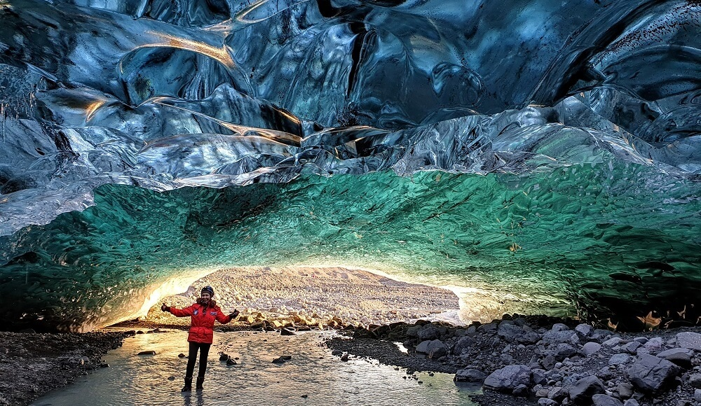 Ice Cave Inside The Largest Glacier Of Europe